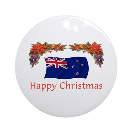 New Zealand Happy Christmas Ornament (Round)