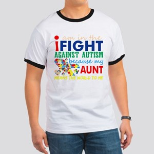 Im Fight Against Autism My Aunt Means Worl T-Shirt