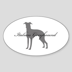 Italian Greyhound Oval Sticker
