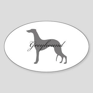 Greyhound Oval Sticker
