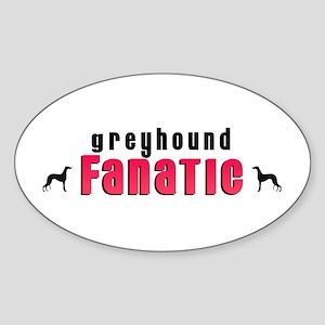Greyhound Fanatic Oval Sticker