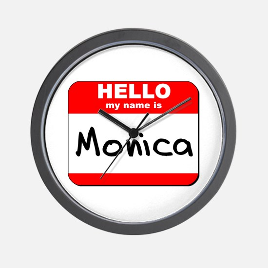 Hello my name is Monica Wall Clock