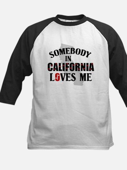 Somebody In California Kids Baseball Jersey