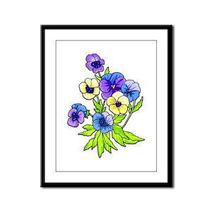 Flowers of Spring Framed Panel Print