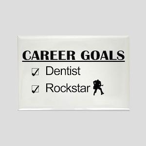 Dentist Career Goals - Rockstar Rectangle Magnet