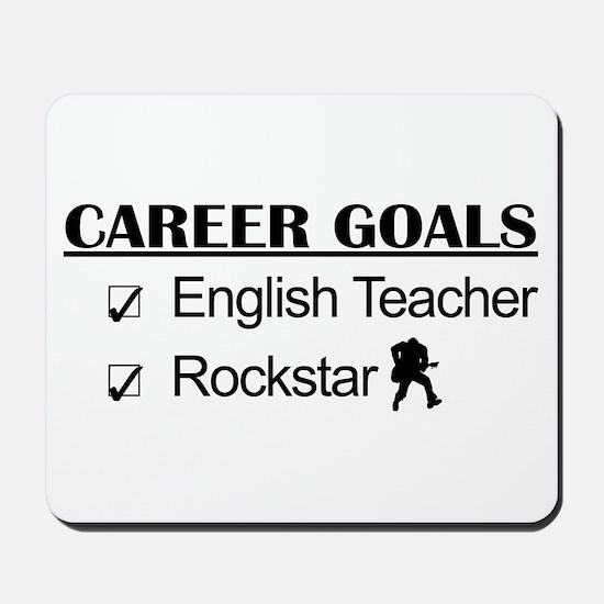 English Teacher Career Goals - Rockstar Mousepad