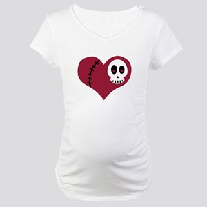 Skull Heart Maternity T-Shirt