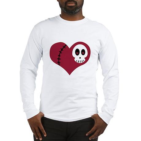 Skull Heart Long Sleeve T-Shirt