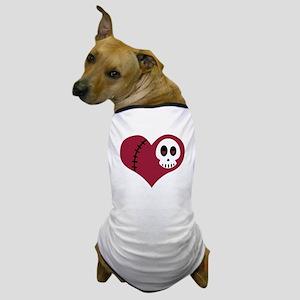 Skull Heart Dog T-Shirt