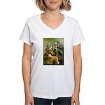 Spirit'76/Wheaten T Women's V-Neck T-Shirt