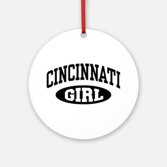 Cincinnati Girl Ornament (Round)