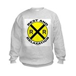 RR = Rest and Relaxation Kids Sweatshirt