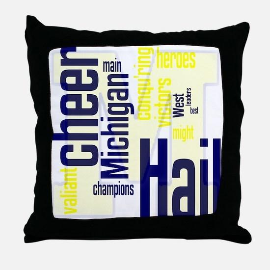 Cute College football Throw Pillow