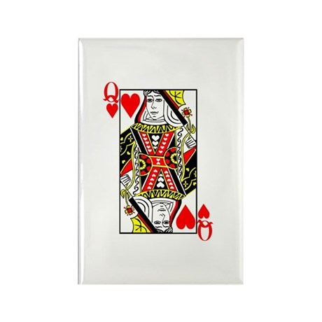 Queen of Hearts Rectangle Magnet (100 pack)