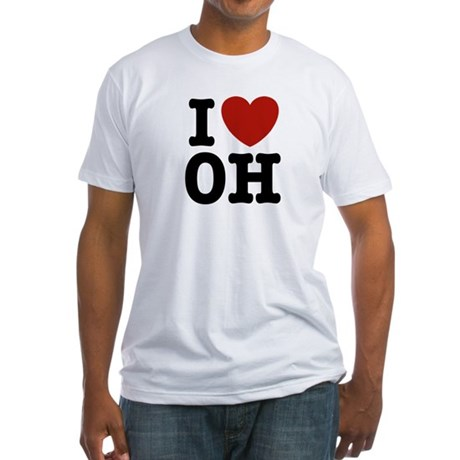 I Love OH Fitted T-Shirt