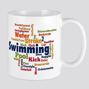 Swimming Word Cloud Mugs