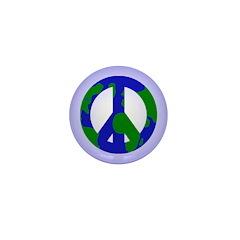 Earth Peace Sign Mini Button (10 pack)