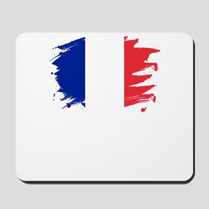 France Paint Splatter Flag French Prid Mousepad