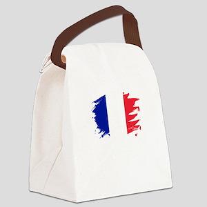 France Paint Splatter Flag Fren Canvas Lunch Bag