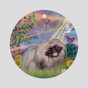 Cloud Angel Pekingese (R) Ornament (Round)