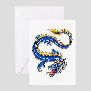 Blue Monster Tattoo Art Greeting Card