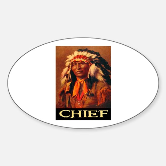 CHIEF Oval Decal