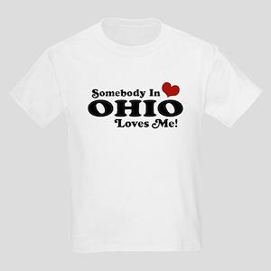 Somebody in Ohio Loves Me Kids Light T-Shirt