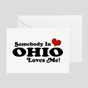 Somebody in Ohio Loves Me Greeting Cards (Pk of 10