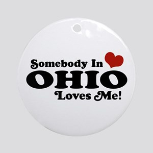 Somebody in Ohio Loves Me Ornament (Round)
