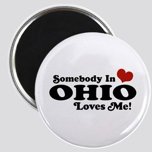 Somebody in Ohio Loves Me Magnet