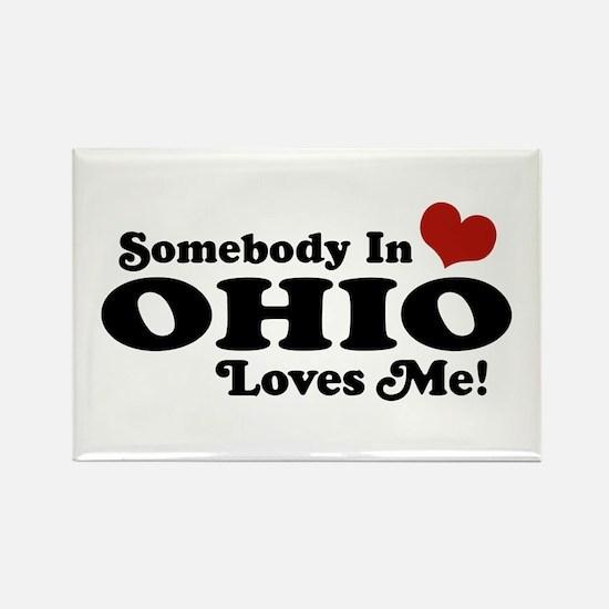 Somebody in Ohio Loves Me Rectangle Magnet