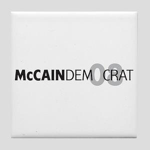 McCain Democrat 08 Tile Coaster