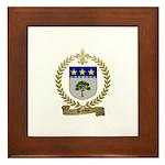 BREAUX Family Crest Framed Tile