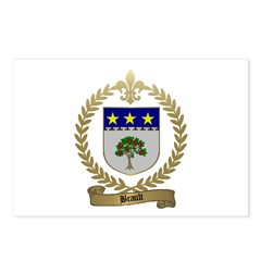 BRAULT Family Crest Postcards (Package of 8)