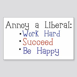 Annoy a Liberal Rectangle Sticker