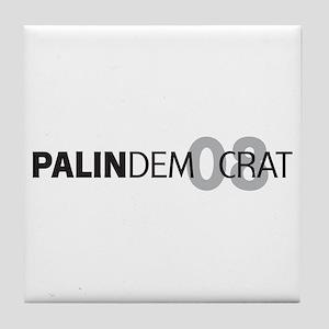 Palin Democrat 08 Tile Coaster