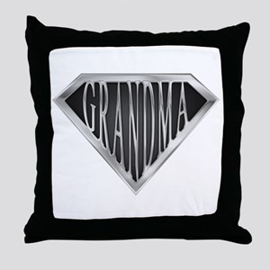SuperGrandma(metal) Throw Pillow