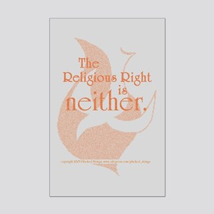 Religious Right is Neither Mini Poster Print