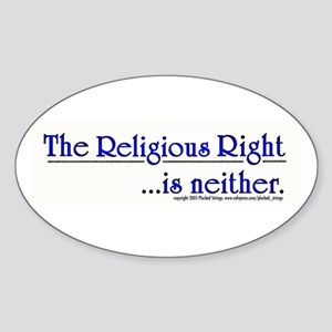 Religious Right is Neither Oval Sticker