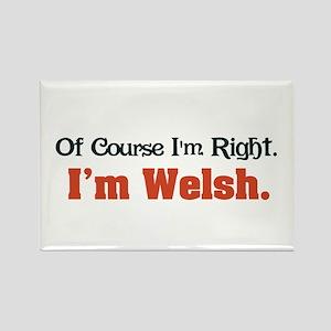 I'm Welsh Rectangle Magnet