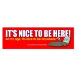 It's Nice To Be Here (Bumper Sticker)