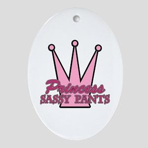 Princess Sassy Pants Oval Ornament