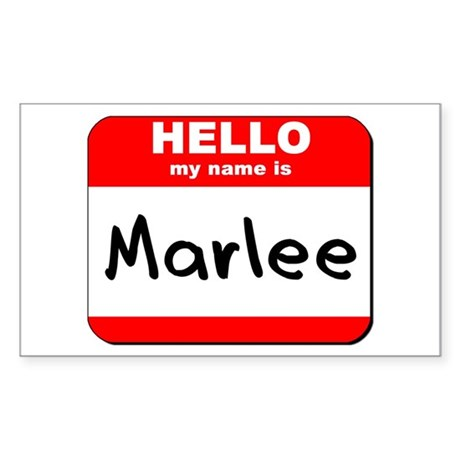 Hello my name is Marlee Rectangle Sticker