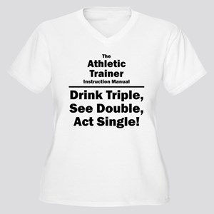 Athletic Trainer Women's Plus Size V-Neck T-Shirt