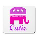 Conservative Cutie Mousepad