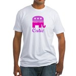Conservative Cutie Fitted T-Shirt
