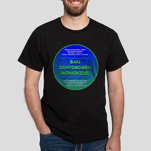 Funny Ban Dihydrogen Monoxide H20 Dark T-Shirt