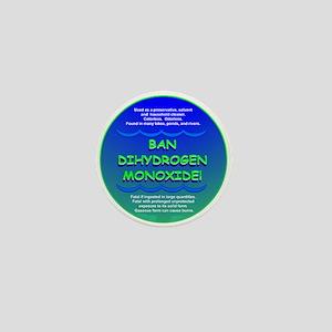 Funny Ban Dihydrogen Monoxide H20 Mini Button