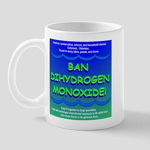 Funny Ban Dihydrogen Monoxide H20 Mug