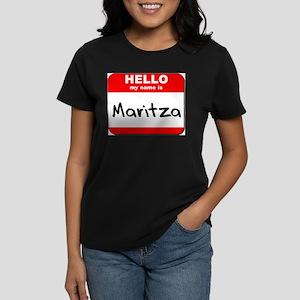 Hello my name is Maritza Women's Dark T-Shirt